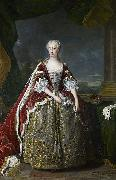 Portrait of Princess Augusta of Saxe Gotha Jean Baptiste van Loo