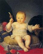 Portrait of Alexander Pawlowitsch as a boy Jean Louis Voille