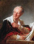 Portrait of Denis Diderot Jean-Honore Fragonard