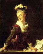 Portrait of Marie-Madeleine Guimard (1743-1816), French dancer Jean-Honore Fragonard