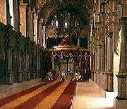 Anointment of King Christian VIII and Queen Caroline Amalia in Frederiksborg Castle Church Johan Vilhelm Gertner