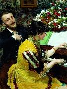 I once saw - scene at the piano. Leon Wyczolkowski