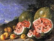 Still Life with Watermelons and Apples, Museo del Prado, Madrid. Luis Melendez