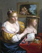 Girl with a Mirror Paulus Moreelse