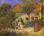 Photo of painting Garden Scene in Britanny. renoir
