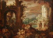 Herds in the ruins Roelant Savery