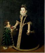 Girl with a dwarf, thought to be a portrait of Margarita of Savoy, daughter of the Duke and Duchess of Savoy Sofonisba Anguissola