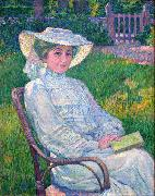 Lady in White - Portrait of Mrs. Theo Van Rysselberghe Theo Van Rysselberghe