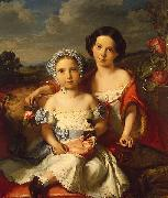 Portrait of Two Children Vital Jean De Gronckel