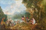 The Embarkation for Cythera WATTEAU, Antoine
