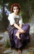 At the Edge of the Brook William-Adolphe Bouguereau