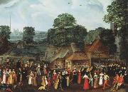 A Fete at Bermondsey or A Marriage Feast at Bermondsey joris Hoefnagel