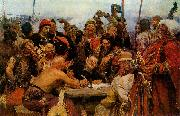 The Reply of the Zaporozhian Cossacks to Sultan of Turkey llya Yefimovich Repin