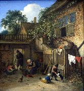 The cottage dooryard. Adriaen van ostade