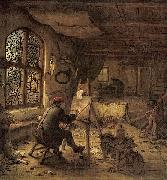 The Painter in His Studio Adriaen van ostade