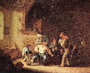 Barber Extracting of Tooth. Adriaen van ostade
