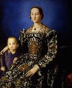 Portrait of Eleanor of Toledo and Her Son Agnolo Bronzino