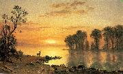 Deer and River Albert Bierstadt