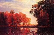 Autumn Woods Albert Bierstadt