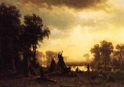 An Indian Encampment Albert Bierstadt