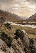 Mountainous Riverscape Alexandre Calame