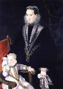 Portrait of Maria Manrique de Lara y Mendoza and her daughter Alonso Sanchez Coello