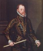Portrait of Philip II of Spain Alonso Sanchez Coello