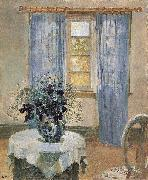 Blue Clematis in the Artist's Studio Anna Ancher