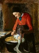 Old Lene Plucking a Goose Anna Ancher