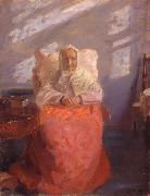 Mrs Ane Brondum in the blue room Anna Ancher