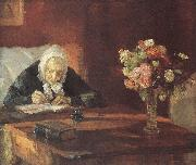 Ane Hedvig Broendum Sitting at the Table Anna Ancher