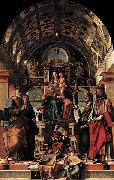 Madonna and Child Enthroned with Saints Bartolomeo Montagna