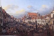 View of Cracow Suburb leading to the Castle Square Bernardo Bellotto