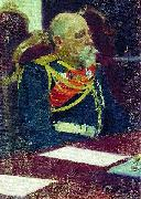 Portrait of the Governor-General of Finland and member of State Council Nikolai Ivanovich Bobrikov. Study for the picture Formal Session of the State  Boris Kustodiev
