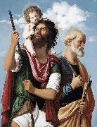 St Christopher with the Infant Christ and St Peter CIMA da Conegliano