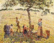 Apple harvest at Eragny Camille Pissarro