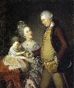 Portrait of John and Elizabeth Lloyd Cadwalader and their Daughter Anne Charles Willson Peale