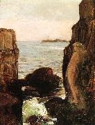 Nymph on a Rocky Ledge Childe Hassam