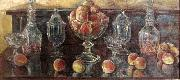 Still Life with Peaches and Old Glass Childe Hassam