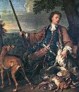 Portrait of the Artist in Hunting Dress Francois Desportes