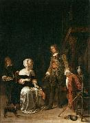 Soldier Paying a Visit to a Young Lady Gabriel Metsu