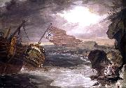 Oil painting of the East Indiaman George Carter