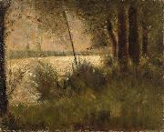 Grassy Riverbank Georges Seurat