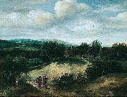 Landscape with huntsmen on a track before a village Jacob Koninck