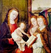 Madonna and Child with two angels Jan provoost