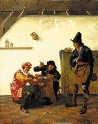 Peasants smoking and making music in an inn Johannes Natus