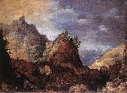 Mountain Scene with Bridges Joos de Momper