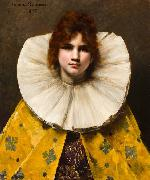A portrait of a young girl with a ruffled collar Juana Romani