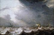 Dutch Vessels at Sea in Stormy Weather MOLYN, Pieter de