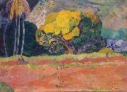 At the Foot of a Mountain Paul Gauguin
